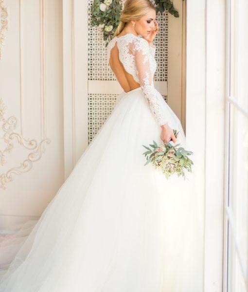 Свадебный салон «Купидон» — Свадебные платья — Ронсе+спинка